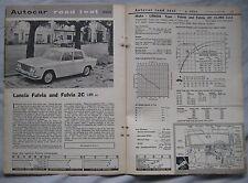1964 Lancia Fulvia & Fulvia 2C Original Autocar magazine Road test