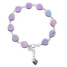 Pear Pink Simulated Opal Women Bracelet Fashion Jewelry Gift Lady Bracelet 7''