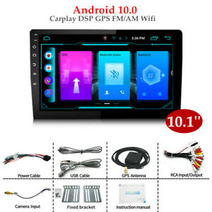 "10.1""2DIN Android 10.0 Auto Radio Stereo Player Carplay  DSP GPS Navi FM/AM Wifi"
