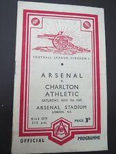 Arsenal  V Charlton  1948/9
