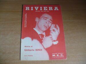 SPARTITO MUSICALE RIVIERA UMBERTO BINDI BOLERO CHA CHA CHA CANTO MANDOLINO FISA