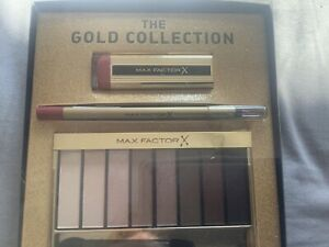 MAX FACTOR The Gold Collection set nude pallet eyeshadow Lipstick liner New box