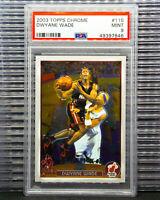 2003-04 Dwyane Wade Topps Chrome Draft Pick Rookie Card RC # 115 PSA 9 7846