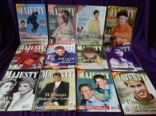Majesty Magazine Volume 21, 12 original issues from 2000, British Royal Family