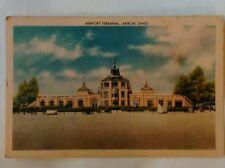 Akron Ohio Airport Terminal Street View Antique Postcard