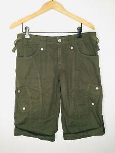 BILLY BLUES Dark Green Cargo Size 4 Knee Length Walking Shorts