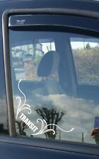 ford  transit  connect corner sticker decal wind deflectors add on