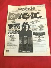 RARE AC/DC 1976 VINTAGE MUSIC PRESS POSTER ADVERT LOCK UP YOUR DAUGHTERS TOUR