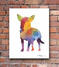 Chihuahua Abstract Watercolor Painting Art Print by Artist DJ Rogers