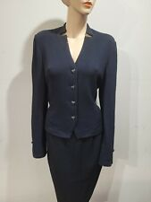 ST JOHN Evening size 10 Black  Santana Knit Blazer Jacket