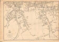 1863  LARGE ANTIQUE MAP - DISPATCH ATLAS- LONDON SUBURBS,PECKHAM &c