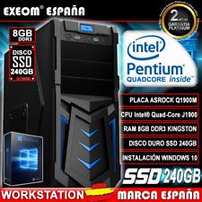 Ordenador De Sobremesa Pc Gaming Intel Quad Core 9.6GHZ 8GB SSD 240GB Windows 10