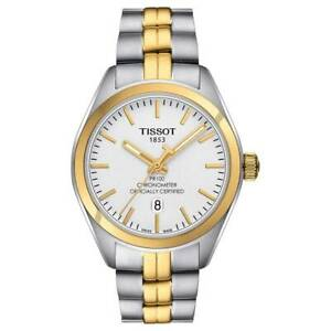 Tissot Swiss Made T-Classic PR100 Chronometer 2 Tone Gold Plated Ladies' Watch