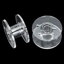 20x Clear Bobbin Sewing Machine Plastic Spools Box For Thread Brother Singer