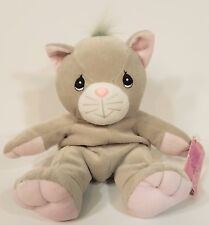 Nwt Precious Moments Tender Tails gray kitten beanie collectible doll toy