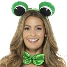 Adult Animal Frog Fancy Dress Set Eyes on Headband & Bowtie Kit by Smiffys New