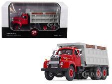 MACK B-61 TANDEM AXLE DUMP TRUCK RED CAB/ GRAY BODY 1/64 BY FIRST GEAR 60-0401