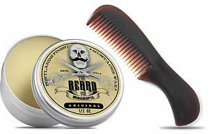Portlands Finest Moustache Wax & Pocket Beard Comb The Beard and The Wonderful