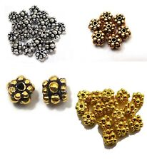 30 PCS 6MM STERLING SILVER PLATED 18K GOLD PLATED COPPER BALI SPACERS BEAD 45