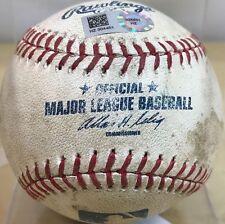 MIKE TROUT GAME-USED BATTED MLB BASEBALL + KOLE CALHOUN K v ABAD 2014 MVP ANGELS