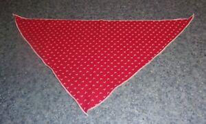 Brand New Red White Ribbons Dog Bandana MEDIUM LARGE Tie On Scarf
