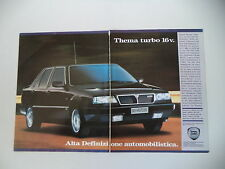 advertising Pubblicità 1990 LANCIA THEMA TURBO 16V