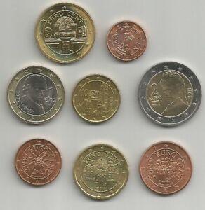 AUSTRIA TUTTI I CENT E GLI EURO UNC DAL 2002 SCEGLI QUELLI CHE TI INTERESSANO