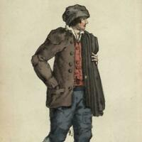 Chimney Sweep c.1820 wonderful miniature hand color aquatint print