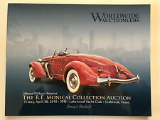 Worldwide Car Auction RE Monical Collection Catalog Texas 2010 Mint Auburn Ford