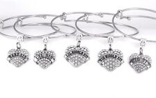 5 Sisters Bracelet Set Sisters Gift Five Sisters Bangle Sisters Present charm