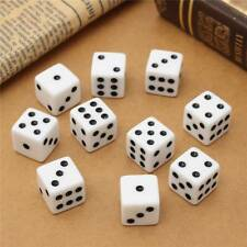 100pcs 8mm Six Sided D6 RPG Dice Toy Square Cube Dice Round Corner Party Tool