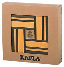 KAPLA Farbe 40er Box Holzbausteine gelb/grün mit Kunstbuch
