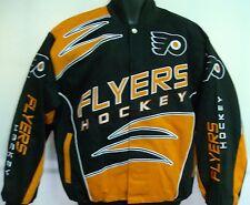 Philadelphia Flyers Jacket NHL Shred Twill Jacket Size Large Free Shipping