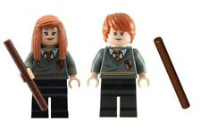 LEGO Harry Potter Minifigs Ron Weasley And Ginny Weasley With Wands NEW