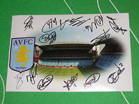 Aston Villa FC Stadium Photograph Signed by the 2013/14 Squad - 12 Autographs!