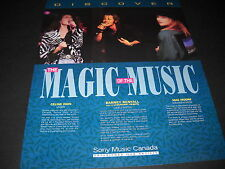 Celine Dion Barney Bentall and Mae Moore 1991 Promo Display Ad mint condition