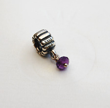 Genuine Pandora Dangle Charm Birthstone February Amethyst 790166AM retired