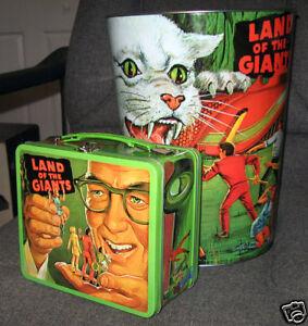Land Of The Giants Metal Lunch box & Wastebasket set / Irwin Allen Spindrift