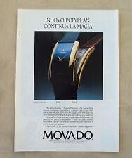 F086 - Advertising Pubblicità - 1992 - MOVADO , NUOVO POLYPLAN