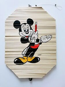 Vintage Disney Mickey Mouse Magician Wooden Wind Spiral Wood Spinner - RARE!