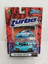 Muscle Machines '03 Honda Civic Si Turbo & High Performance 1/64 Blue