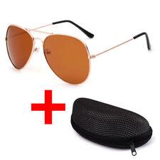 New Men Women UV 400 Mirrored Sunglasses LUENX Aviator Mirrored Glasses & Case