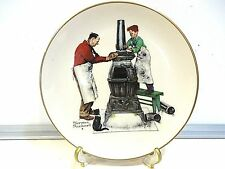 """Norman Rockwell """"The Coal Seasons Coming"""" - Fall Collector Plate"""