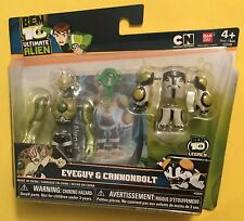 BEN 10 Eyeguy & Cannonbolt interchangeable Alien Creation Action Figures Bandai