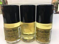 Egyptian Musk Body Oils YELLOW 3 Bottle x 1/2 oz Each Bottle,