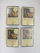 4  MUSIC CASSETTE TAPES  ALL CLASSICAL--CLASSICS BY CANDLELIGHT-   VOLUMES 1-4