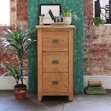 Oakland 3 Drawer Filing Cabinet, Rustic Oak, Fully Assembled