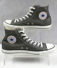 Converse Chuck Taylor Men's Grey Leather High Tops Lace up Trainers Size 8 VGC