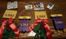 Set of 4 LSU...NWT by forever collectibles Christmas ornaments Louisiana State U