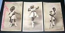 Black americana Cake Walk dance Child Circus original 1900s Photo postcard